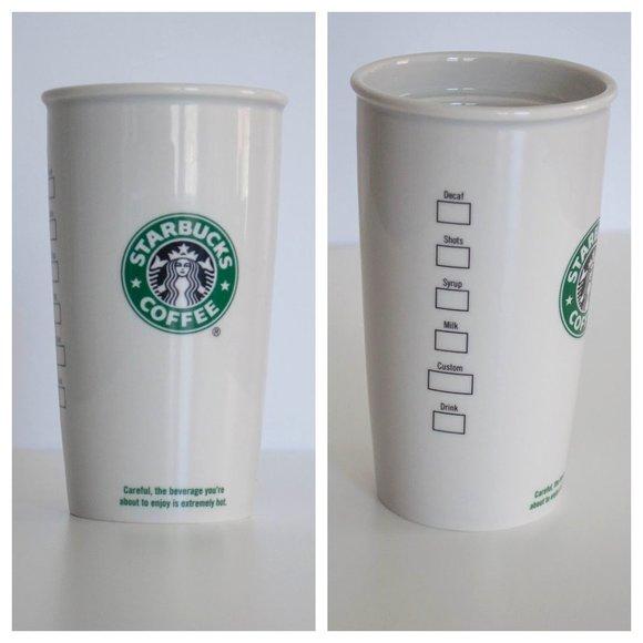 12oz Starbucks Reusable Travel Coffee Cup Mug